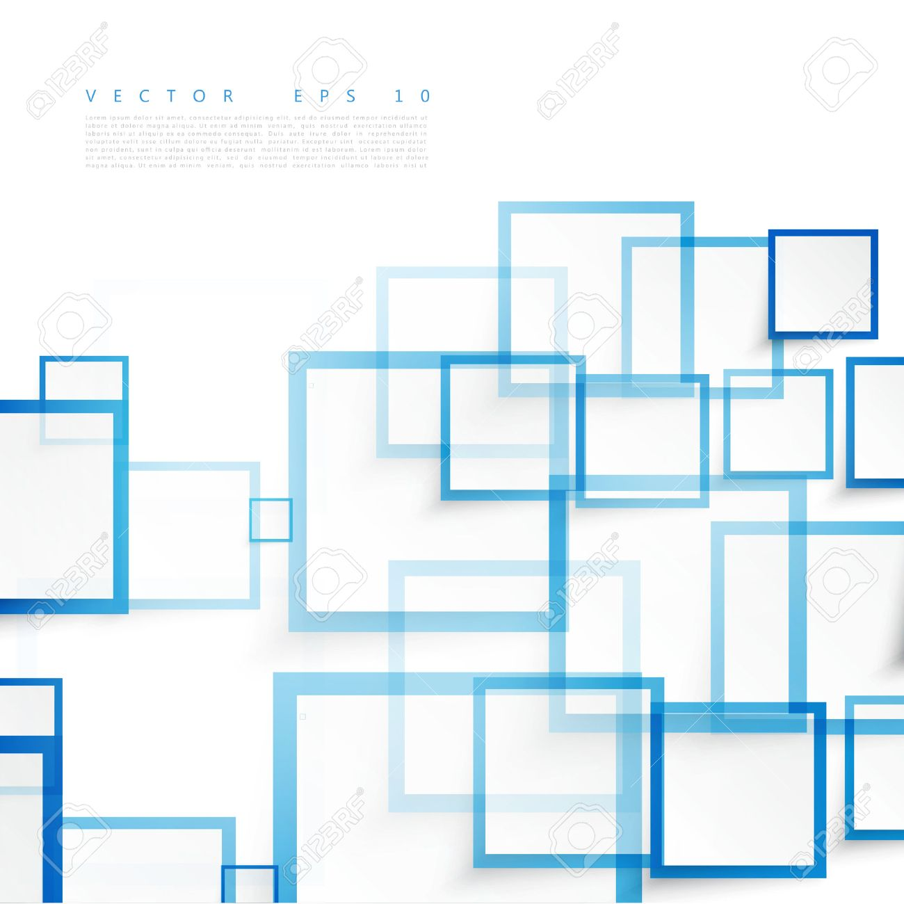 Vector blue squares. Abstract background. Sky blank - 45242067
