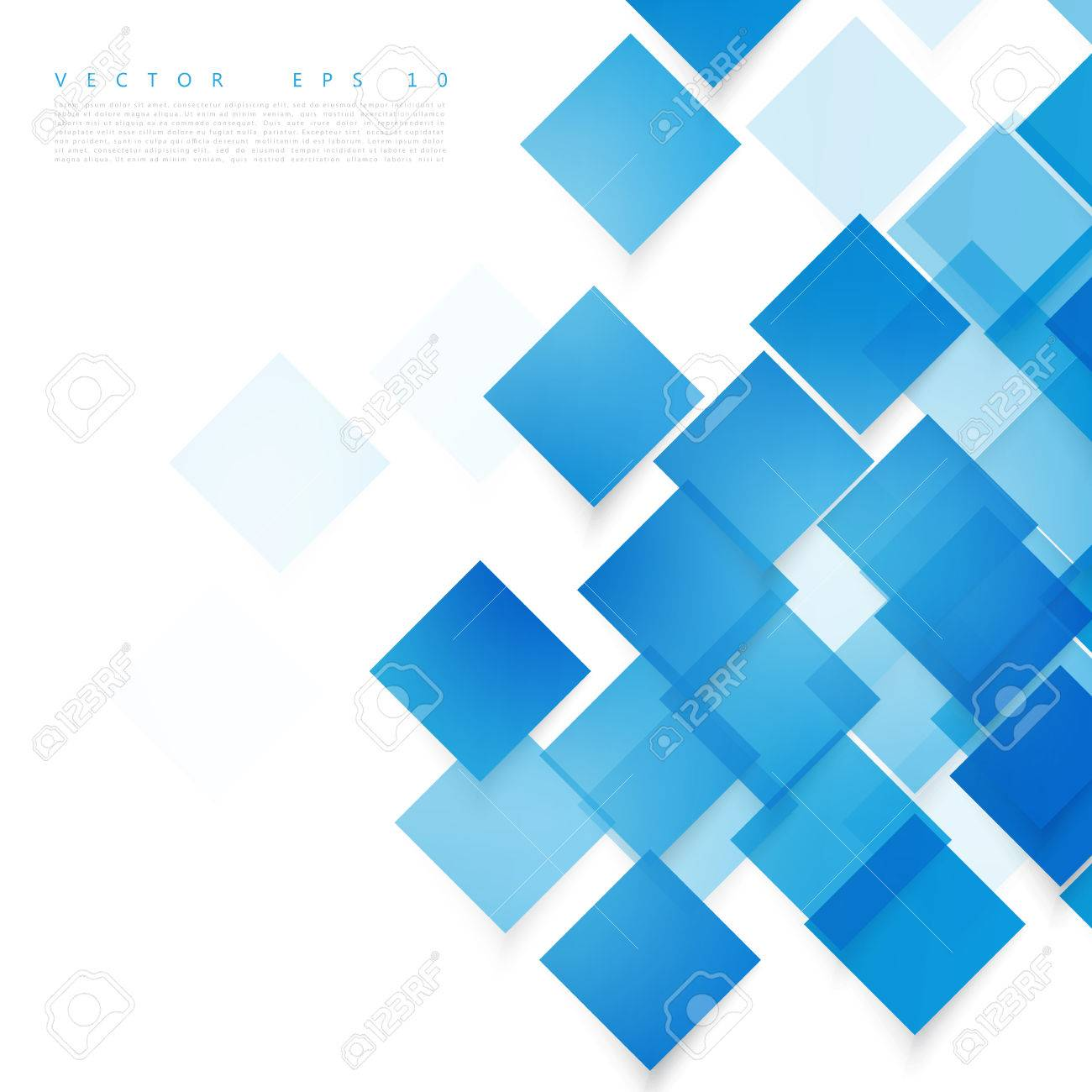 Vector blue squares. Abstract background. Sky blank - 45242072