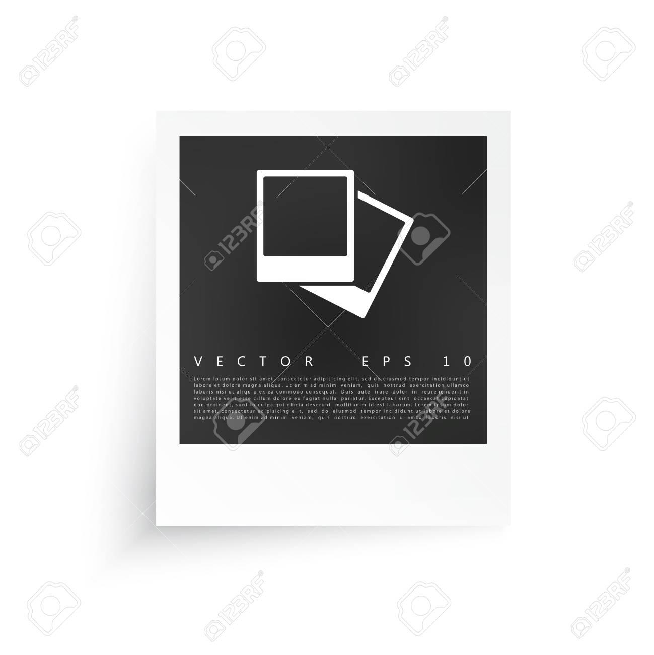 Vector Weißen Rahmen. Bild Fotorahmen Und Schatten Lizenzfrei ...
