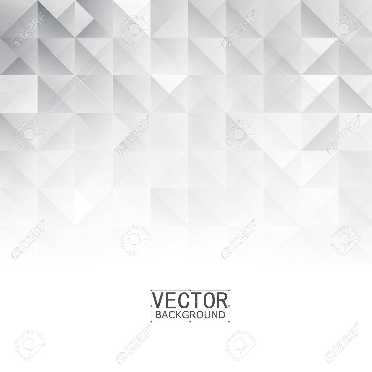 Vector Abstract geometric shape from gray. White squares and triangles - 50637091