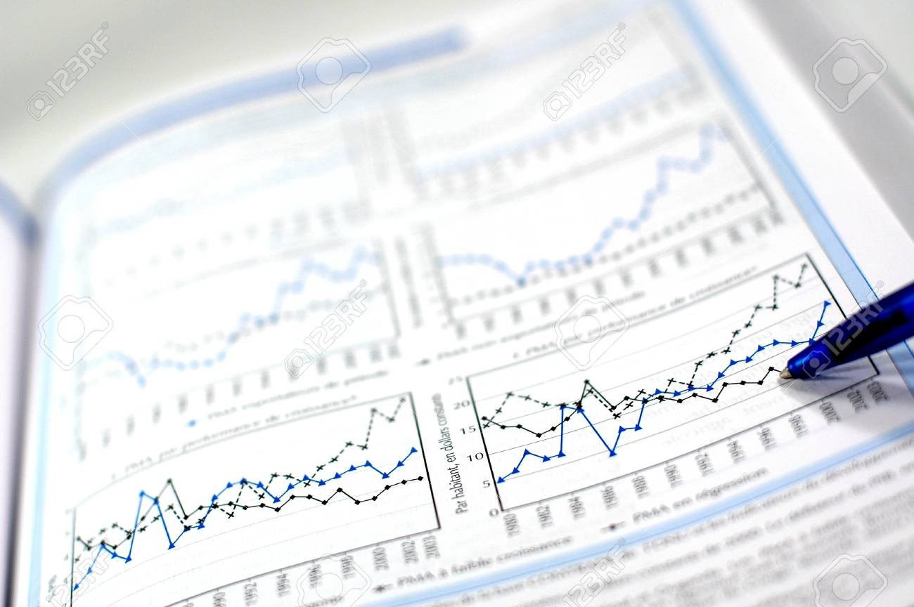 Stock chart and financial report Stock Photo - 16995451