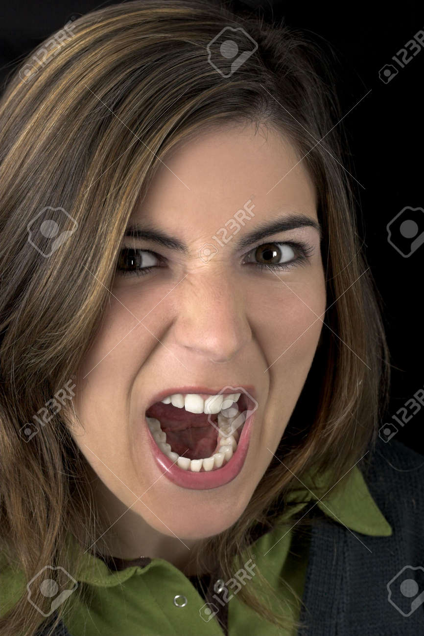 Young atractive woman yelling Stock Photo - 365768