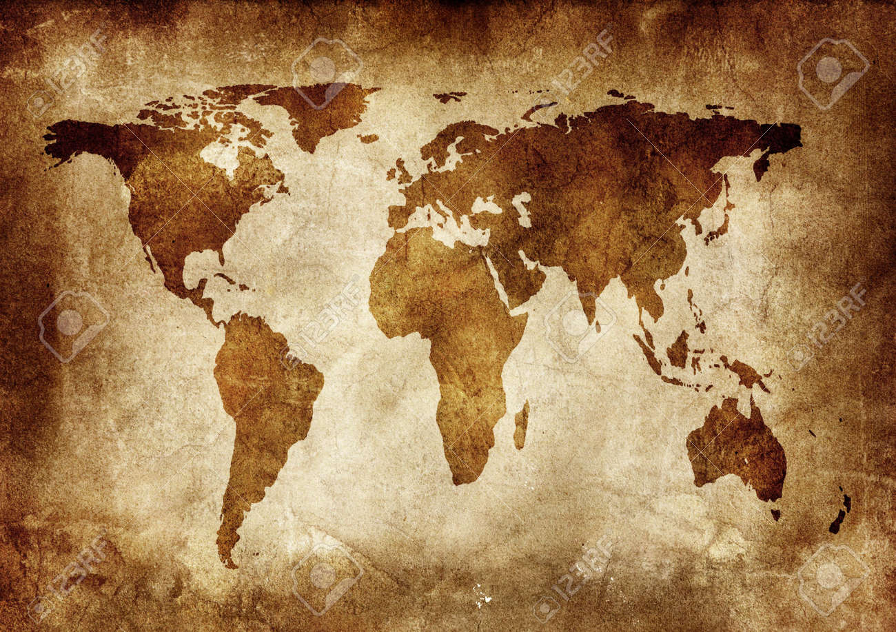 Background made with old textured paper with a world map stock photo background made with old textured paper with a world map stock photo 2155722 gumiabroncs Images
