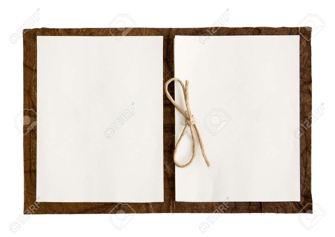 Open note book isolated in a white background Stock Photo - 4500967