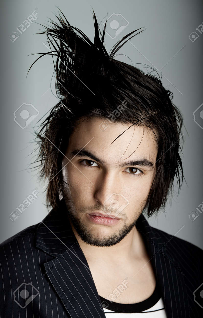 Good looking  young man with modern HairStyle Stock Photo - 4556115