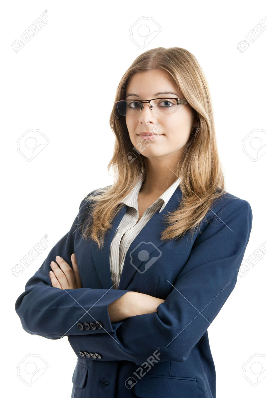 Portrait of a young and beautiful business woman. Stock Photo - 5518150
