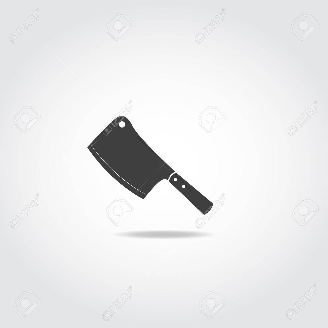 restaurant sharp knife icon two black butcher knife royalty free