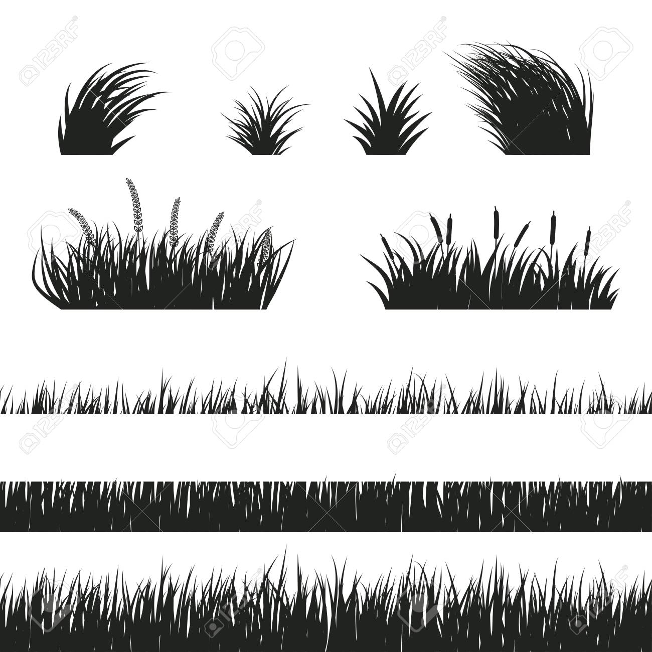 black and white horizontal seamless grass silhouette lawn grass royalty free cliparts vectors and stock illustration image 97466605 black and white horizontal seamless grass silhouette lawn grass