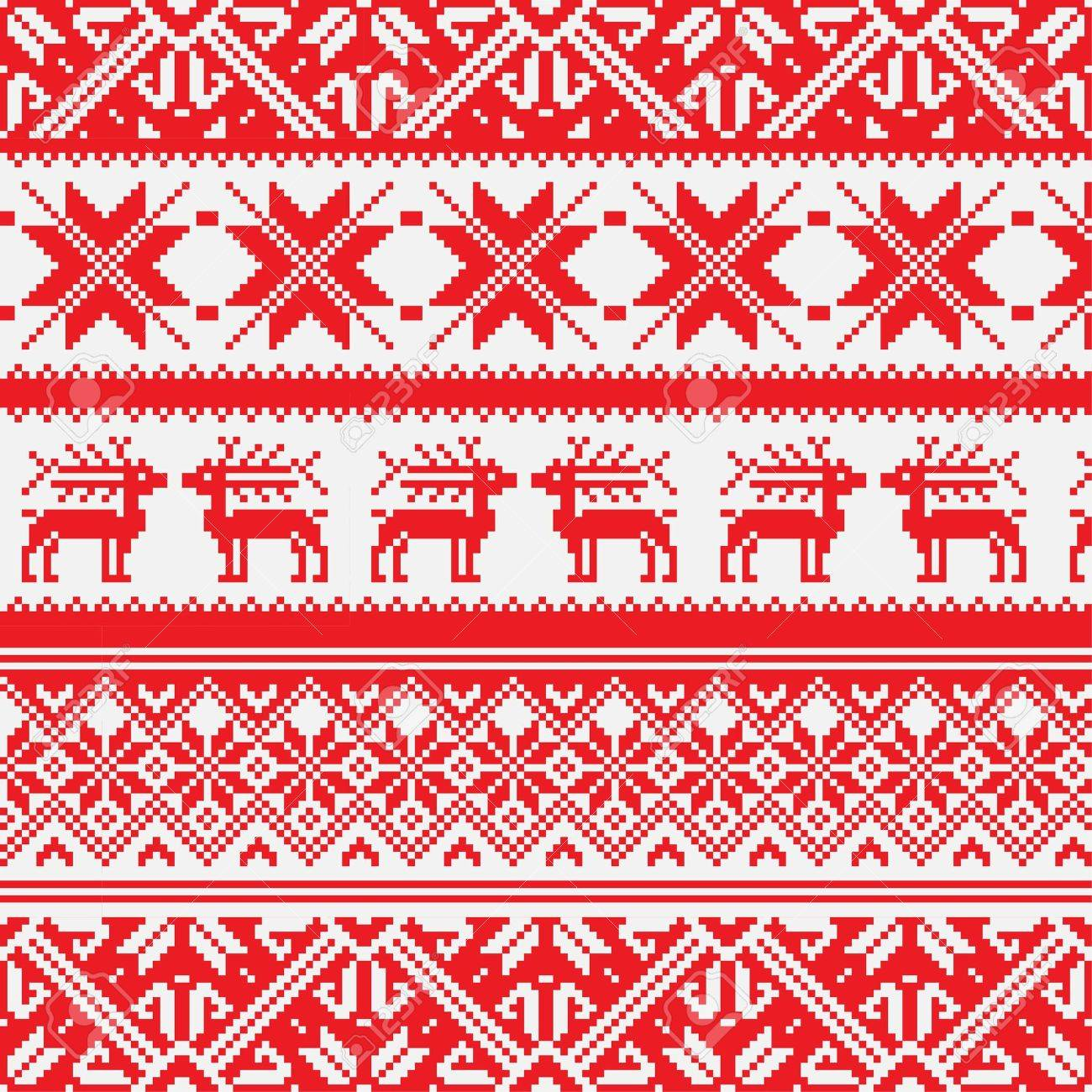 Norway Christmas seamless background Stock Vector - 17054549