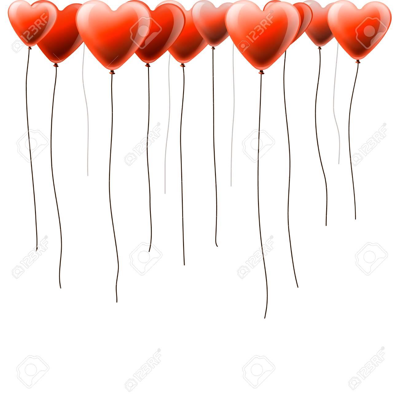 Heart shape balloons, vector Eps10 illustration Stock Vector - 17448681