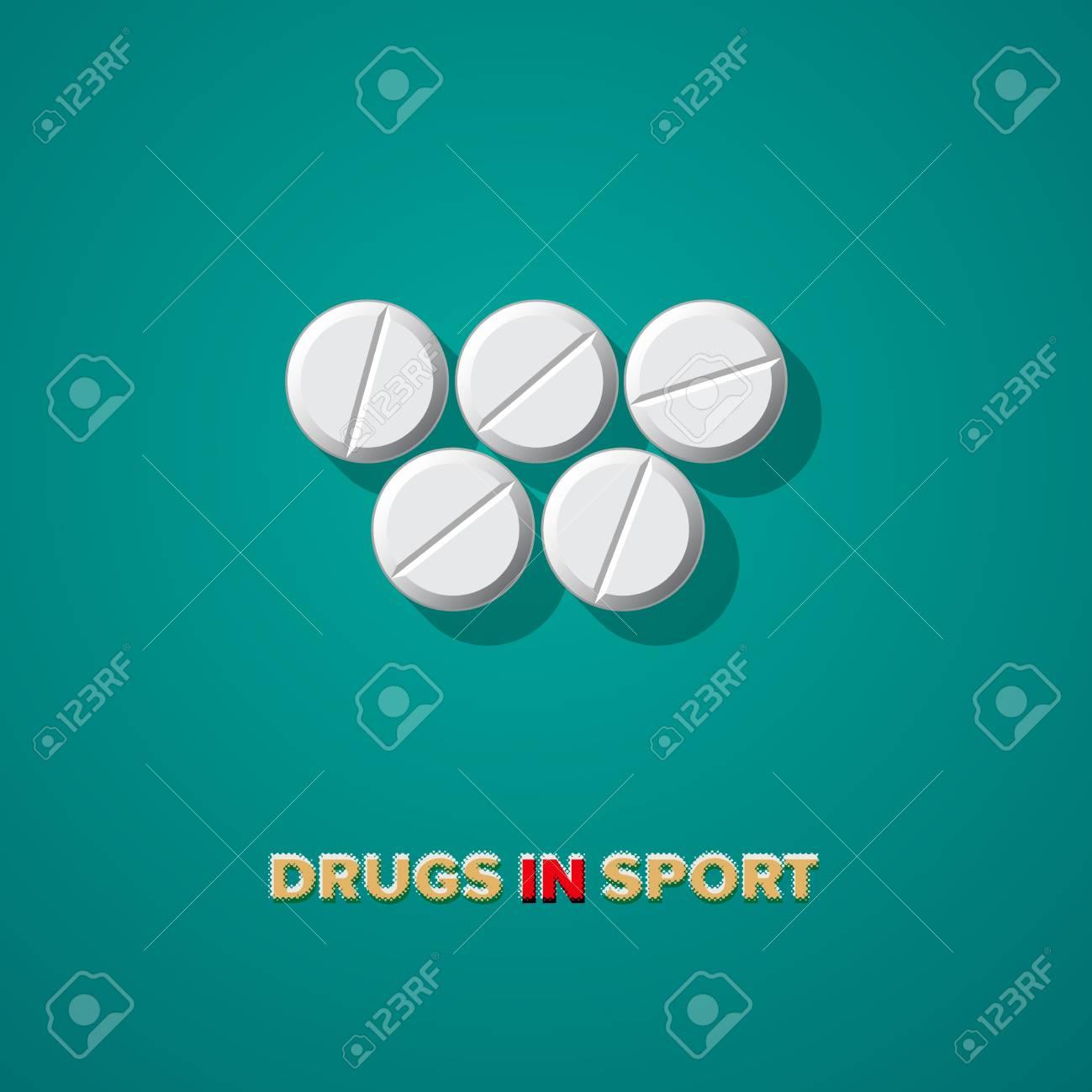 Drugs in sport, vector Eps10 illustration. Stock Vector - 22298991