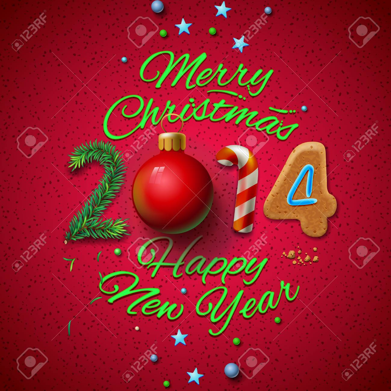 Happy new year 2014 greeting card vector eps10 illustration happy new year 2014 greeting card vector eps10 illustration stock vector 24200736 m4hsunfo