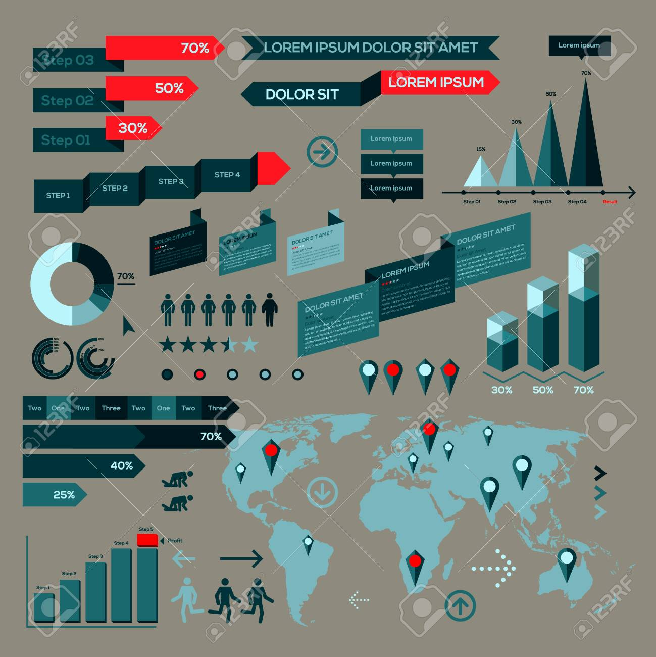 Infographic elements, information graphics Stock Vector - 24539075