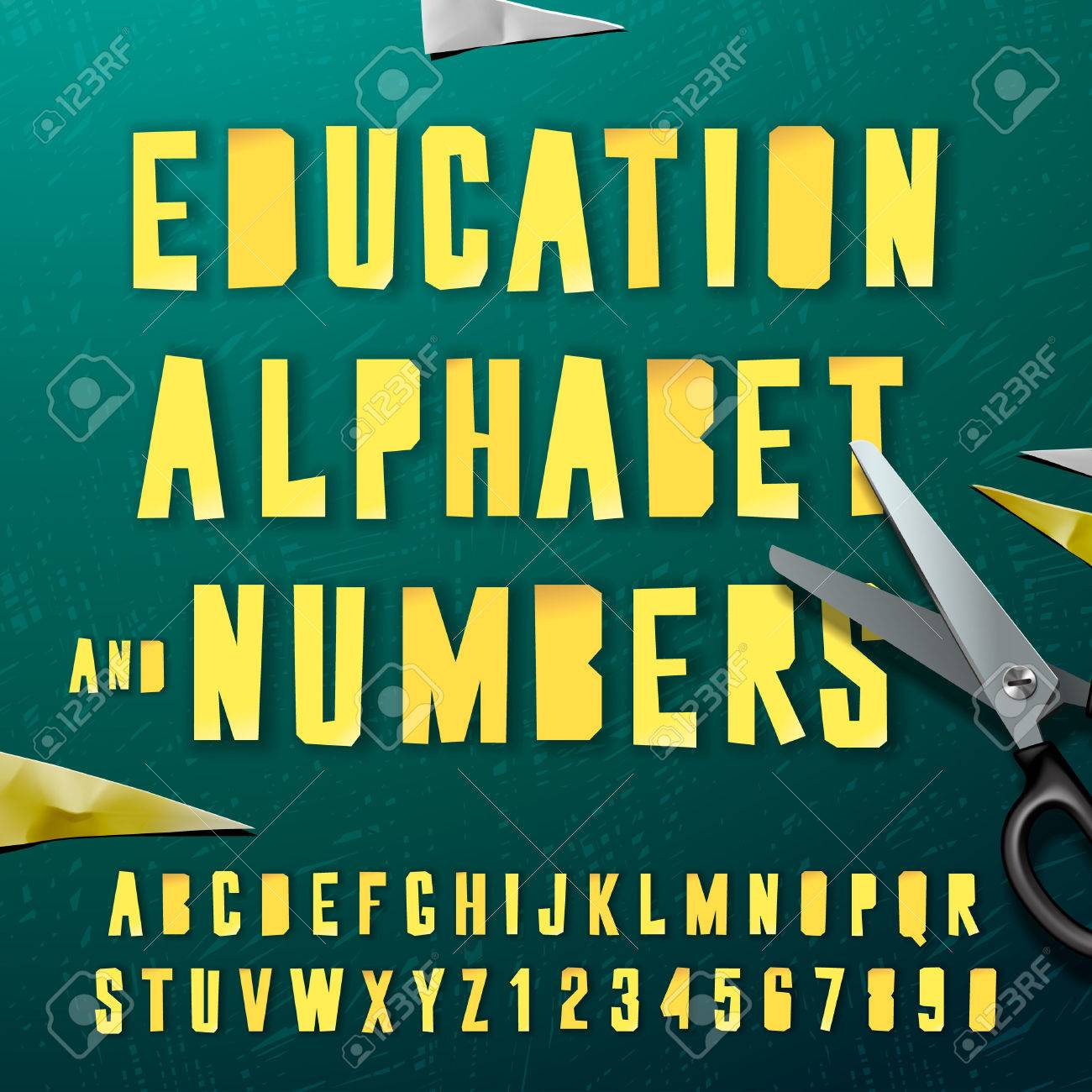Education Alphabet And Numbers Paper Craft Design Cut Out By