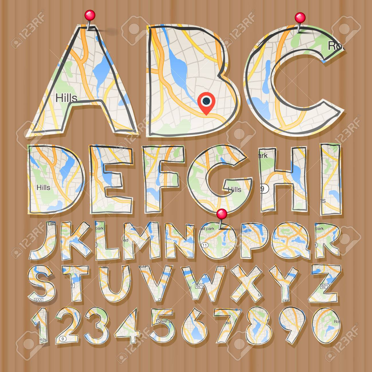 Alphabet And Numbers Paper Craft Design Cut Out By Scissors