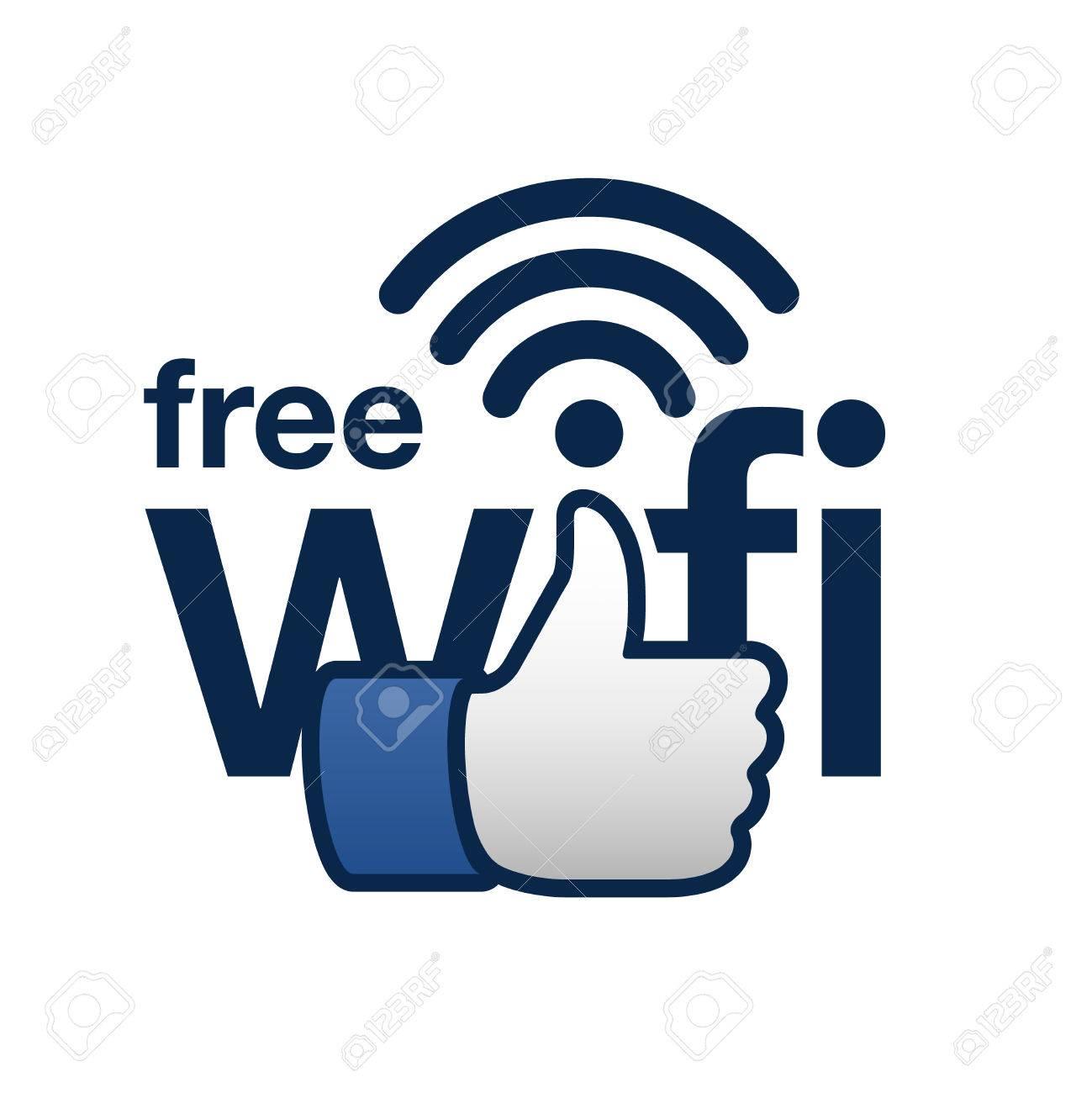 Free wifi here sign concept Standard-Bild - 38732203