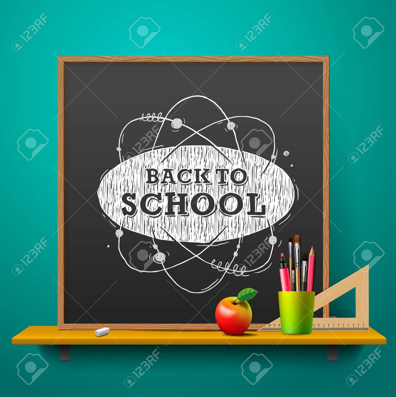 Back to school abstract background Standard-Bild - 42395094