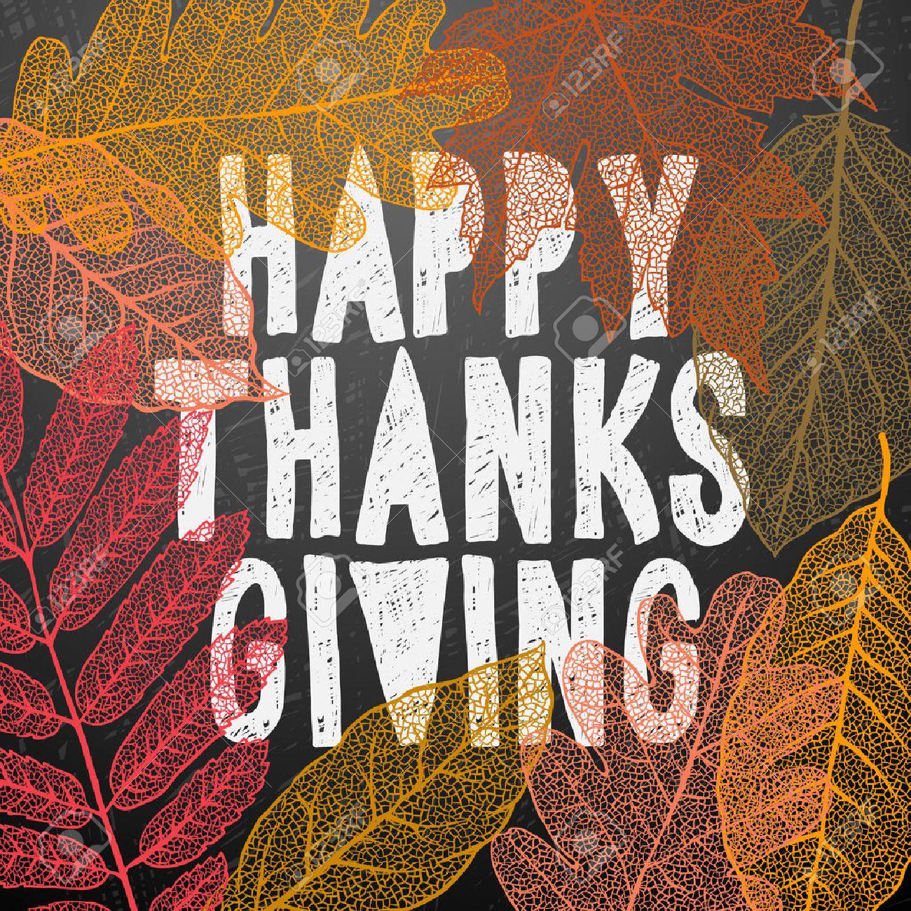 Happy Thanksgiving Day, Urlaub Hintergrund, Vektor-Illustration. Standard-Bild - 47658251
