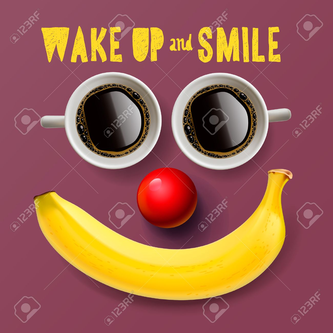 Wake up and smile, motivation background, vector illustration. - 47683092