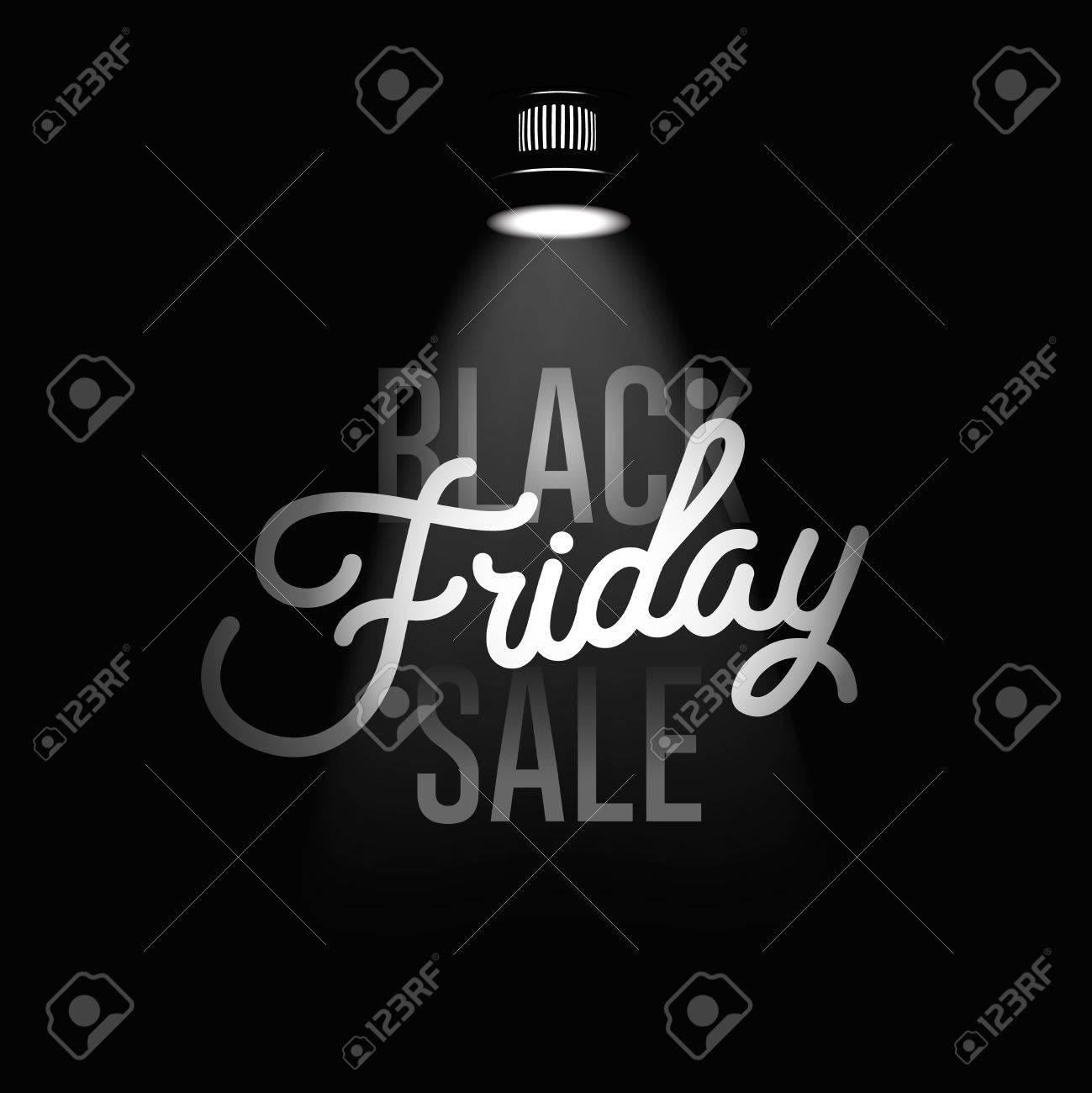 Black Friday Verkauf Inschrift Design-Vorlage. Standard-Bild - 48074409