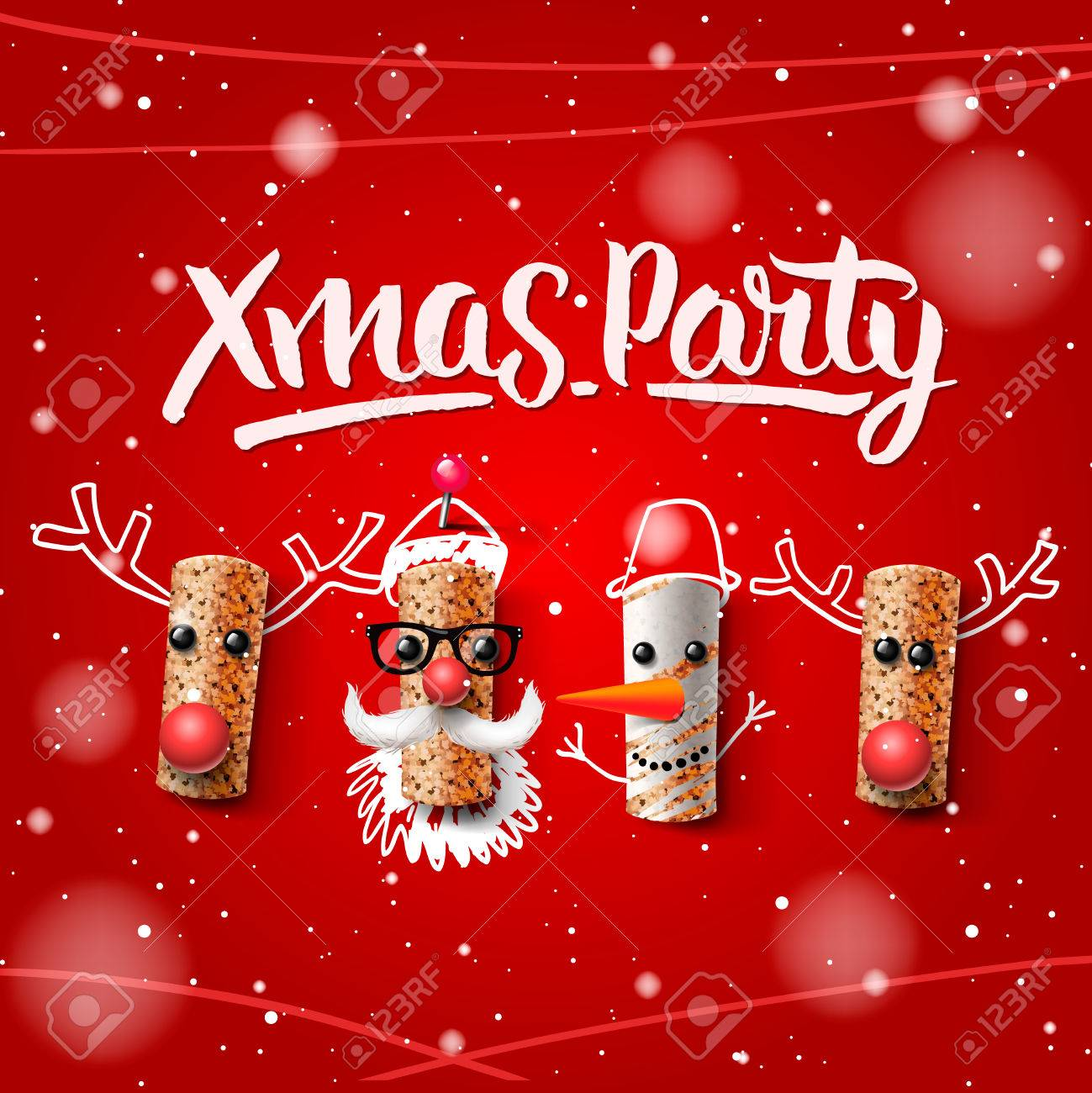 christmas party template christmas characters santa claus