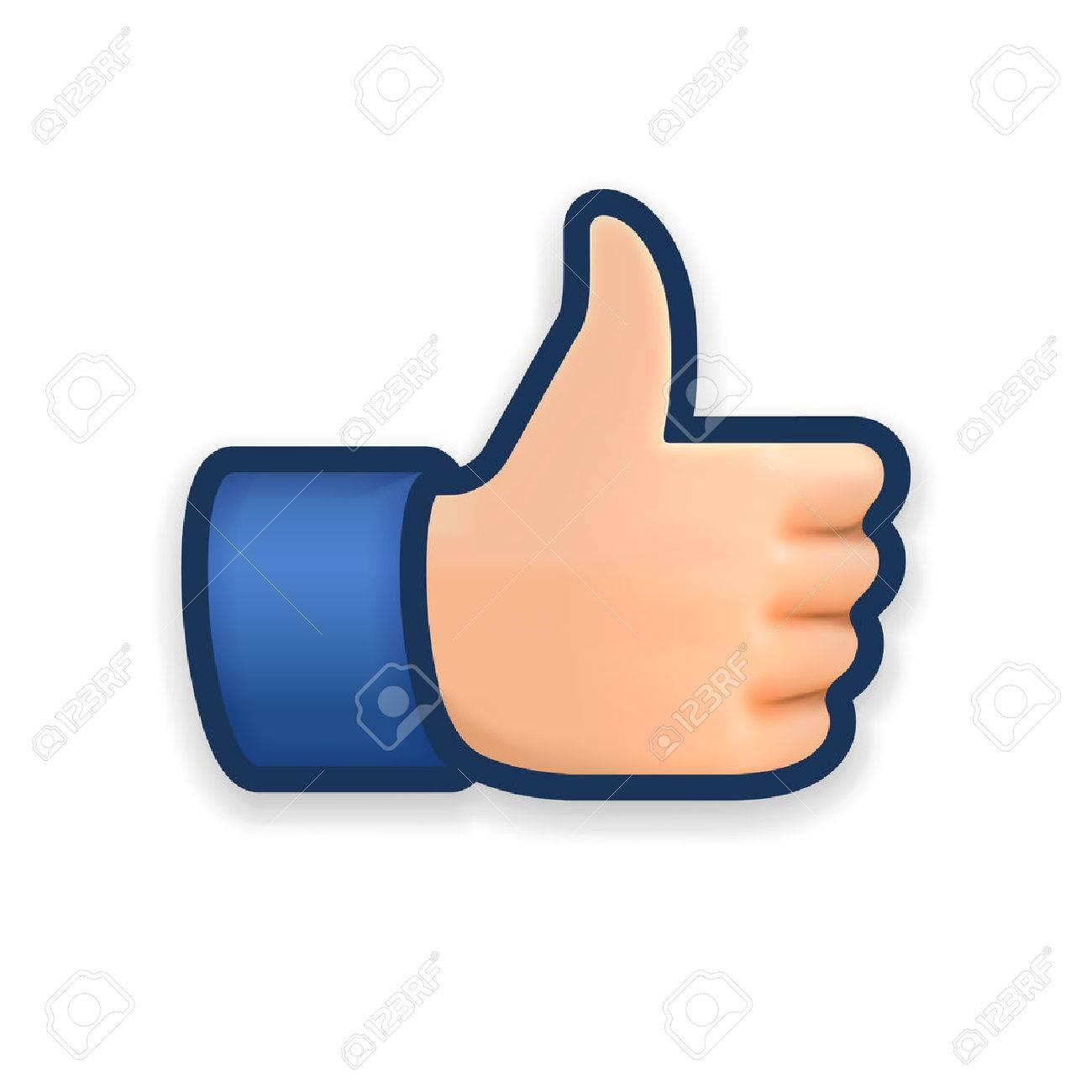 Like icon, thumb up symbol, vector illustration. Standard-Bild - 49477440