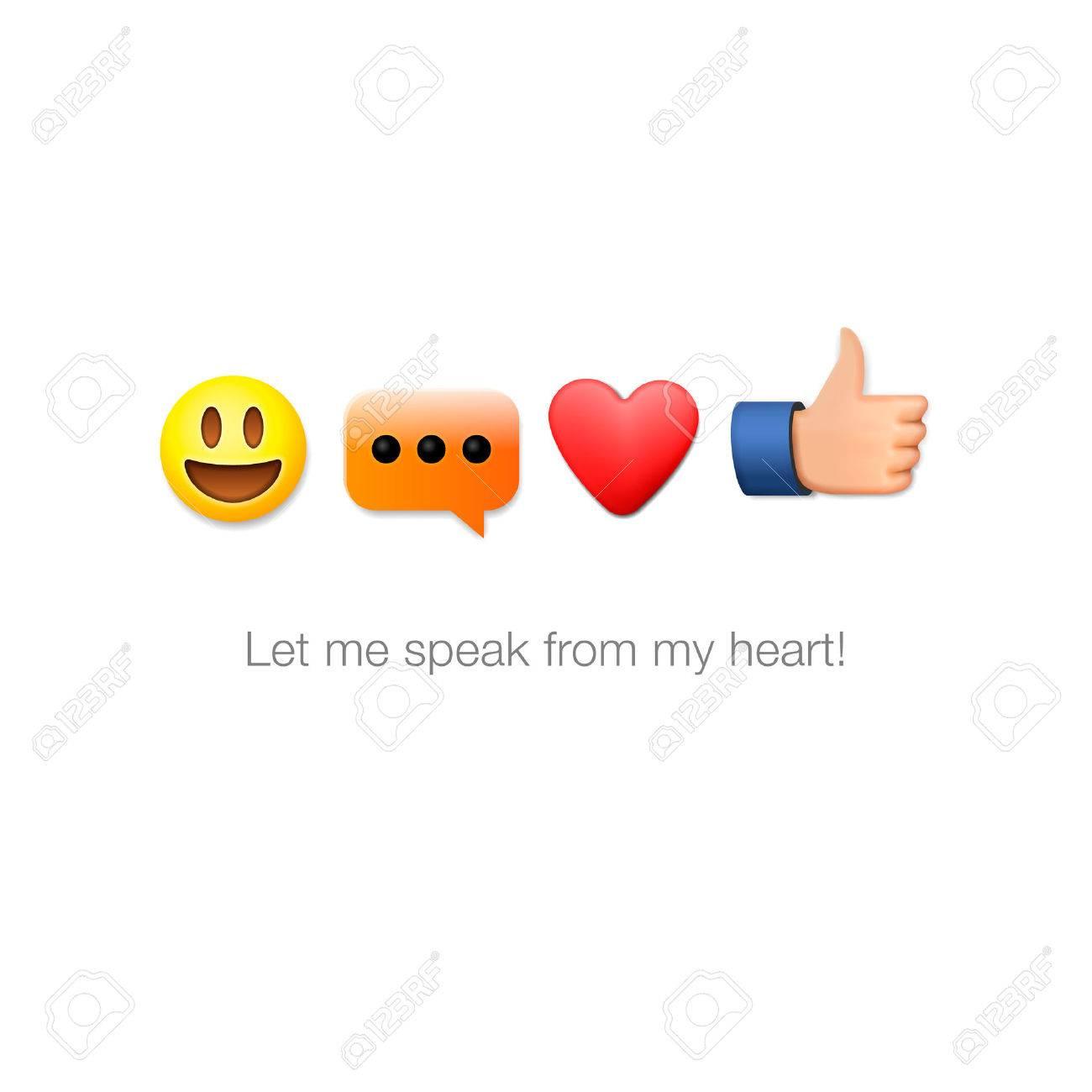 Emoticon-Icons, isoliert auf weißem Hintergrund, Vektor-Illustration. Standard-Bild - 49477402