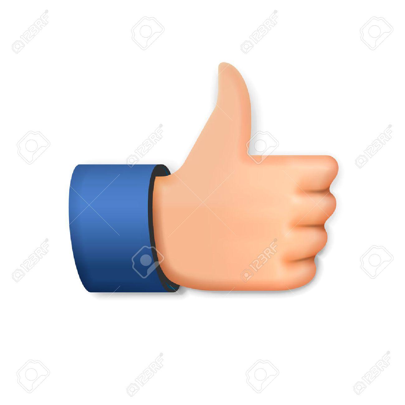 Like icon, emoji thumb up symbol, vector illustration. Standard-Bild - 53022850