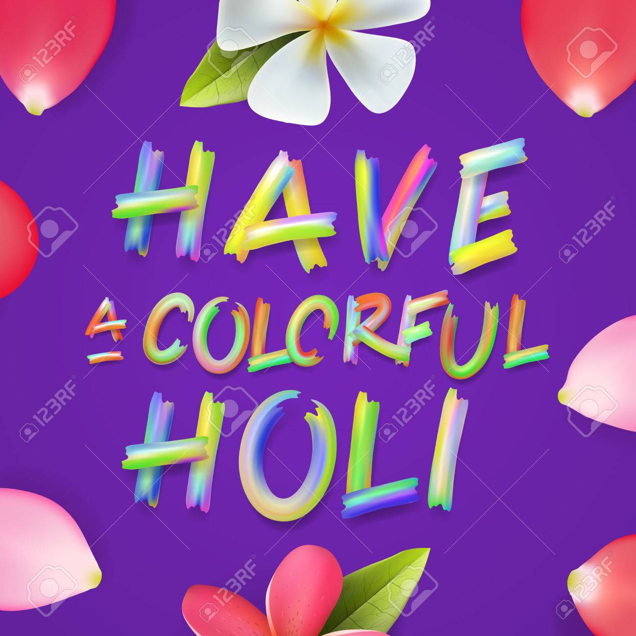 Have A Colorful Holi, Poster Of Indian Color Festival, Can Be ...