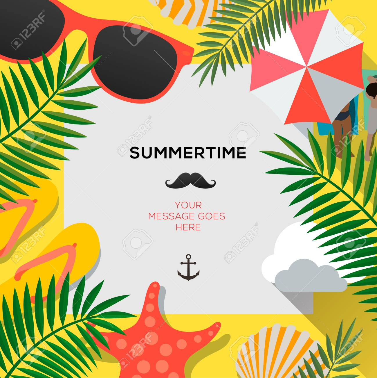 summer web banner background hello summer holiday party beach