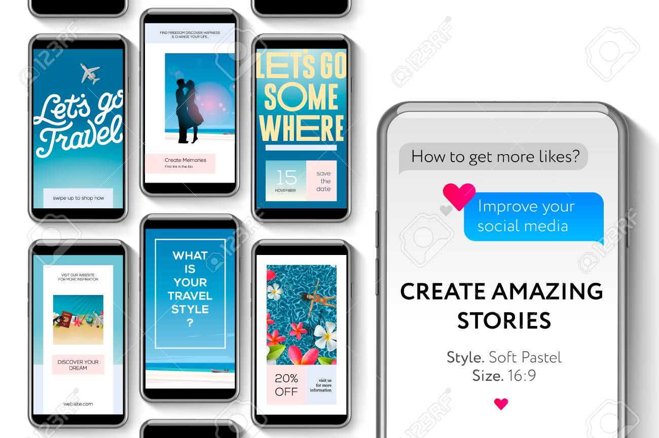 Social Media Story Templates For Brands And Blogger Create Stories