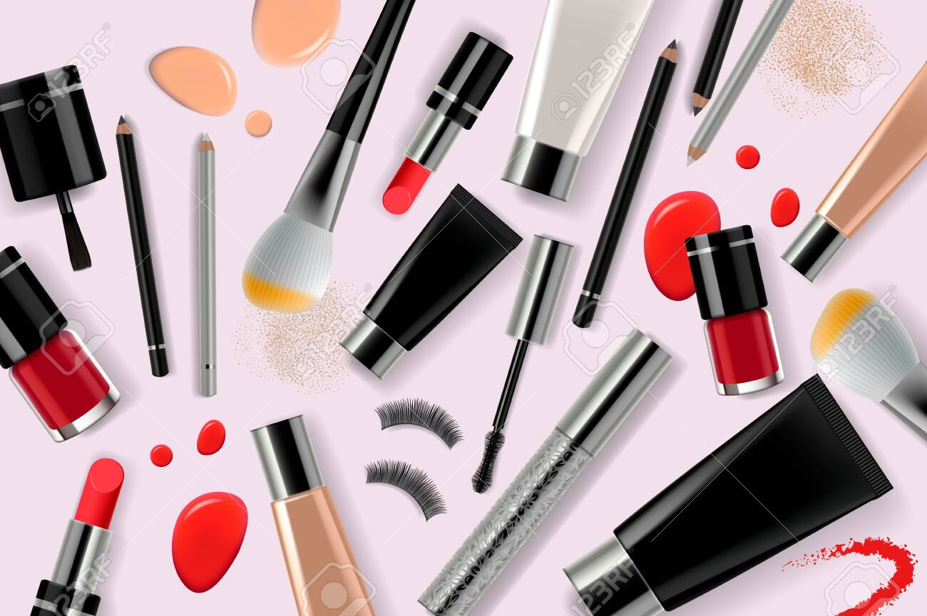 makeup banner template for online beauty store. poster design..