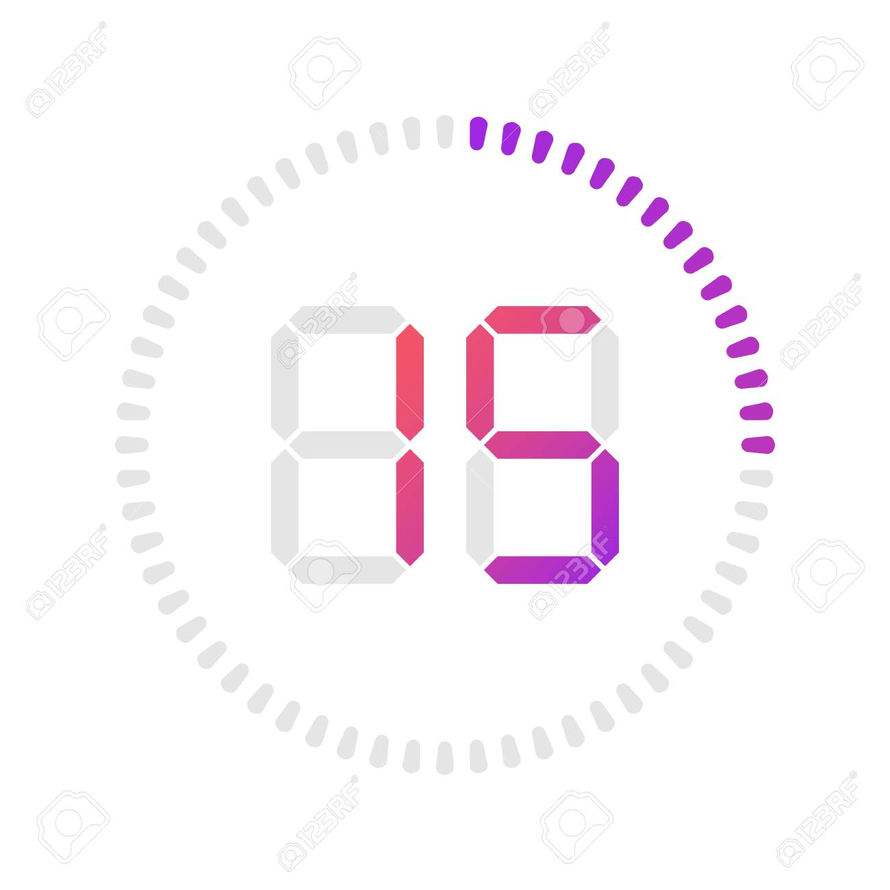 The 15 minutes, stopwatch vector icon, digital timer  Vector
