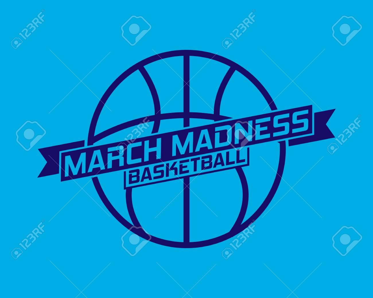 March Madness basketball sport design. Basketball tournament logo, emblem, designs with basketball ball. - 115918031