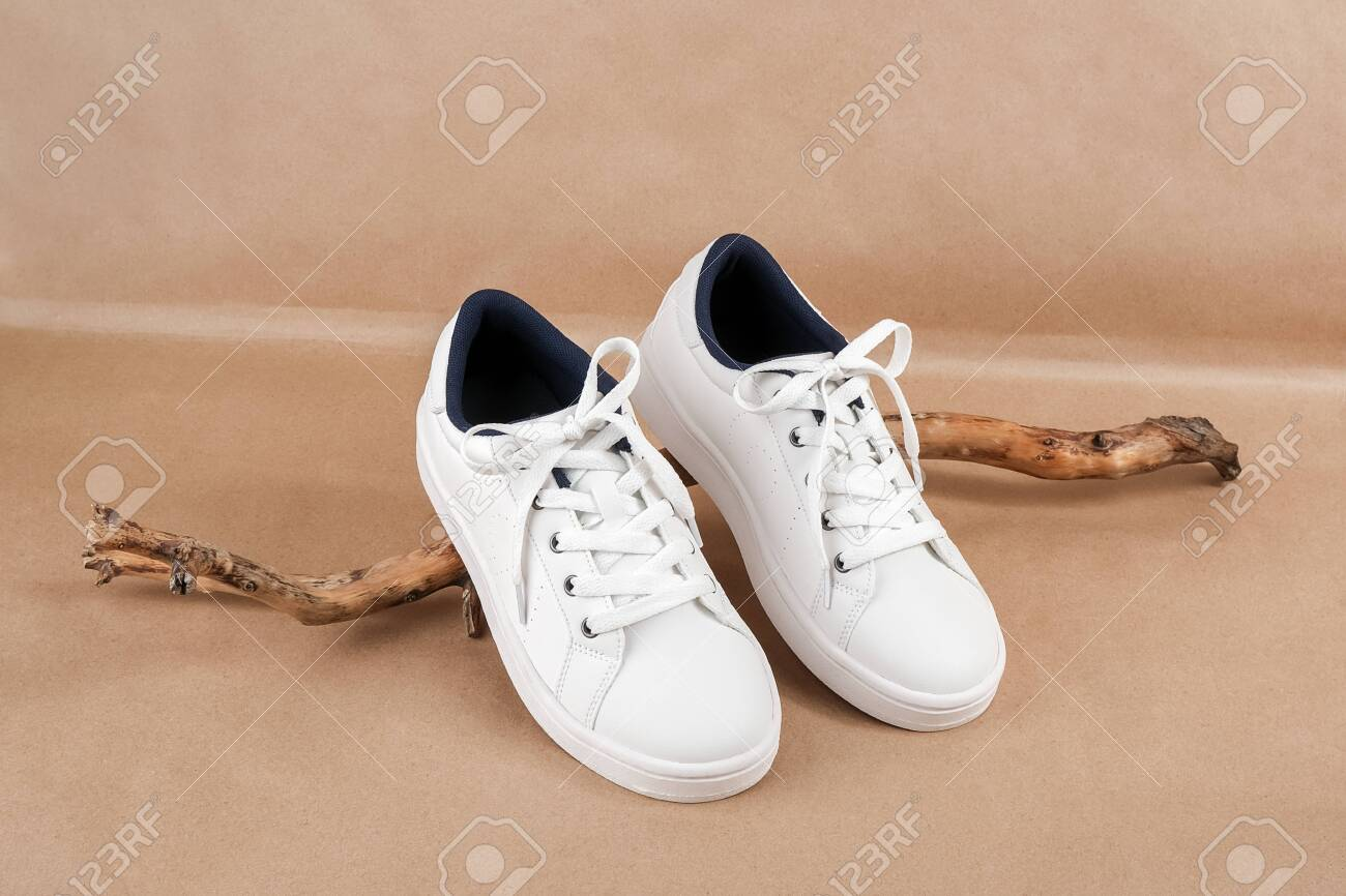Ethical Vegan Shoes Concept. A Pair Of