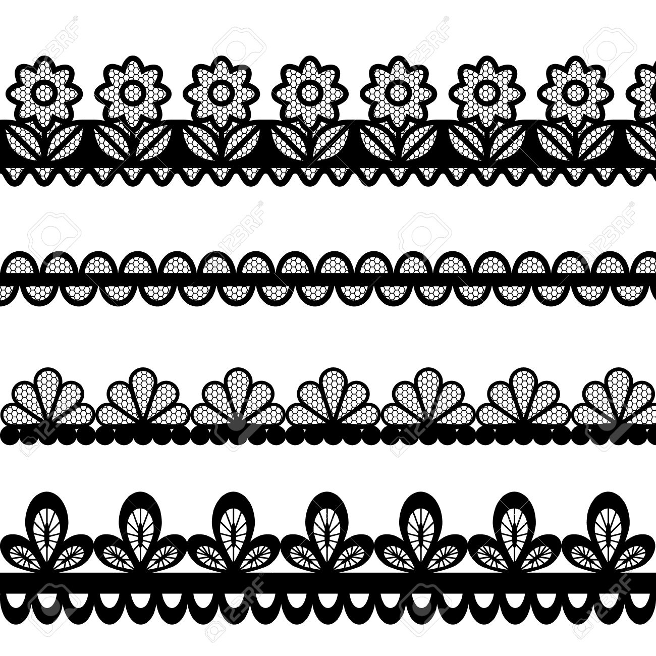 set of lace vector borders royalty free cliparts vectors and stock rh 123rf com lace vector ai lace vector file