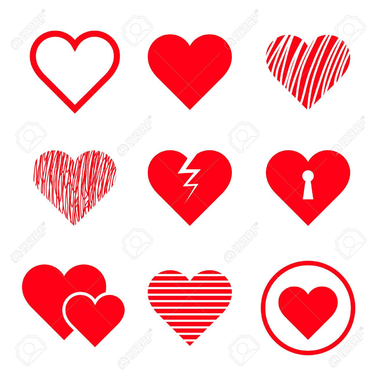 vector hearts set royalty free cliparts vectors and stock rh 123rf com free vector heart outline free vector heart images