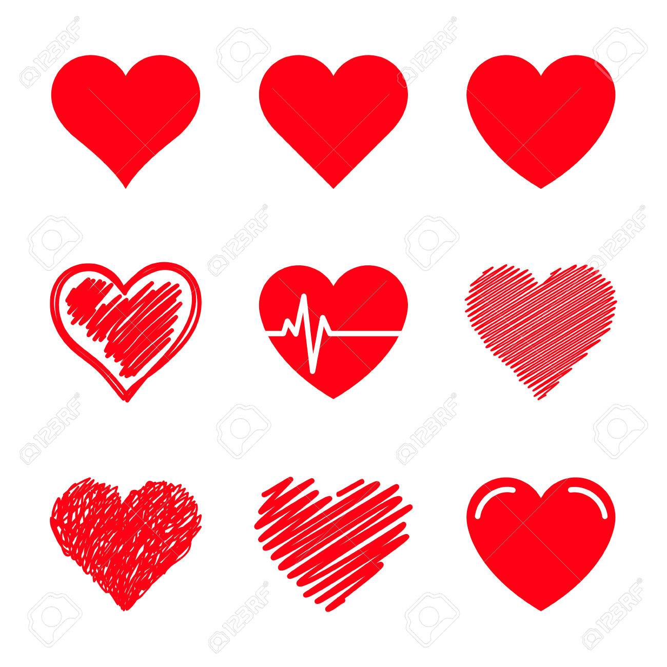 vector hearts set royalty free cliparts vectors and stock rh 123rf com vector heart art vector heart shape