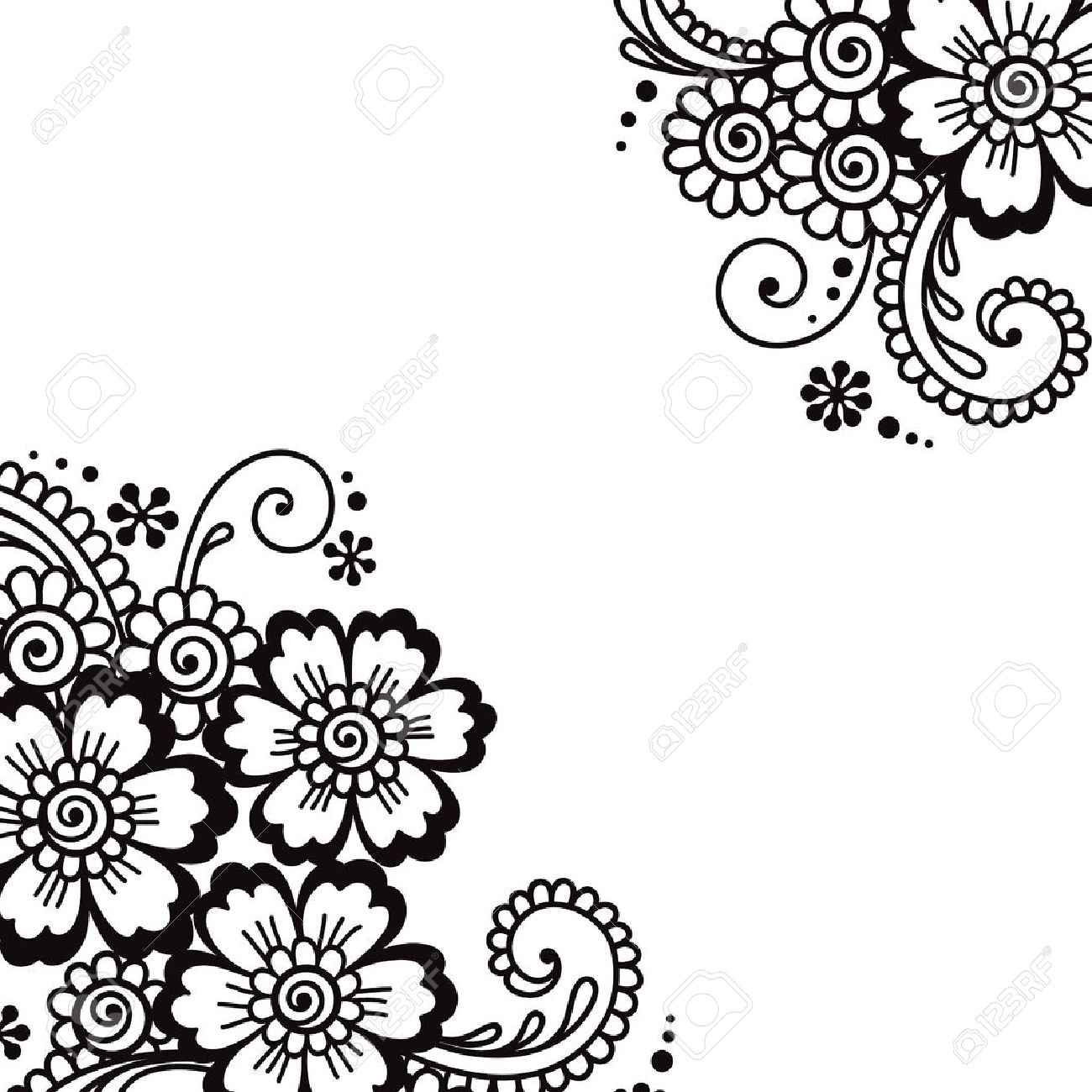 flower vector ornament corner royalty free cliparts vectors and stock illustration image 40271044 flower vector ornament corner