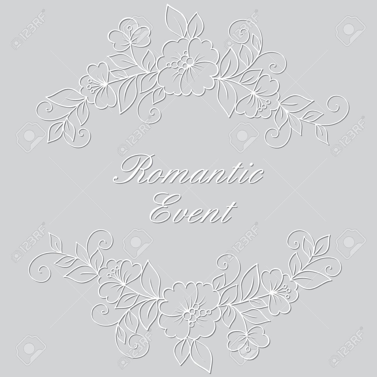 Flower Vector Ornament Frame White Flower Frame Lace Ornament