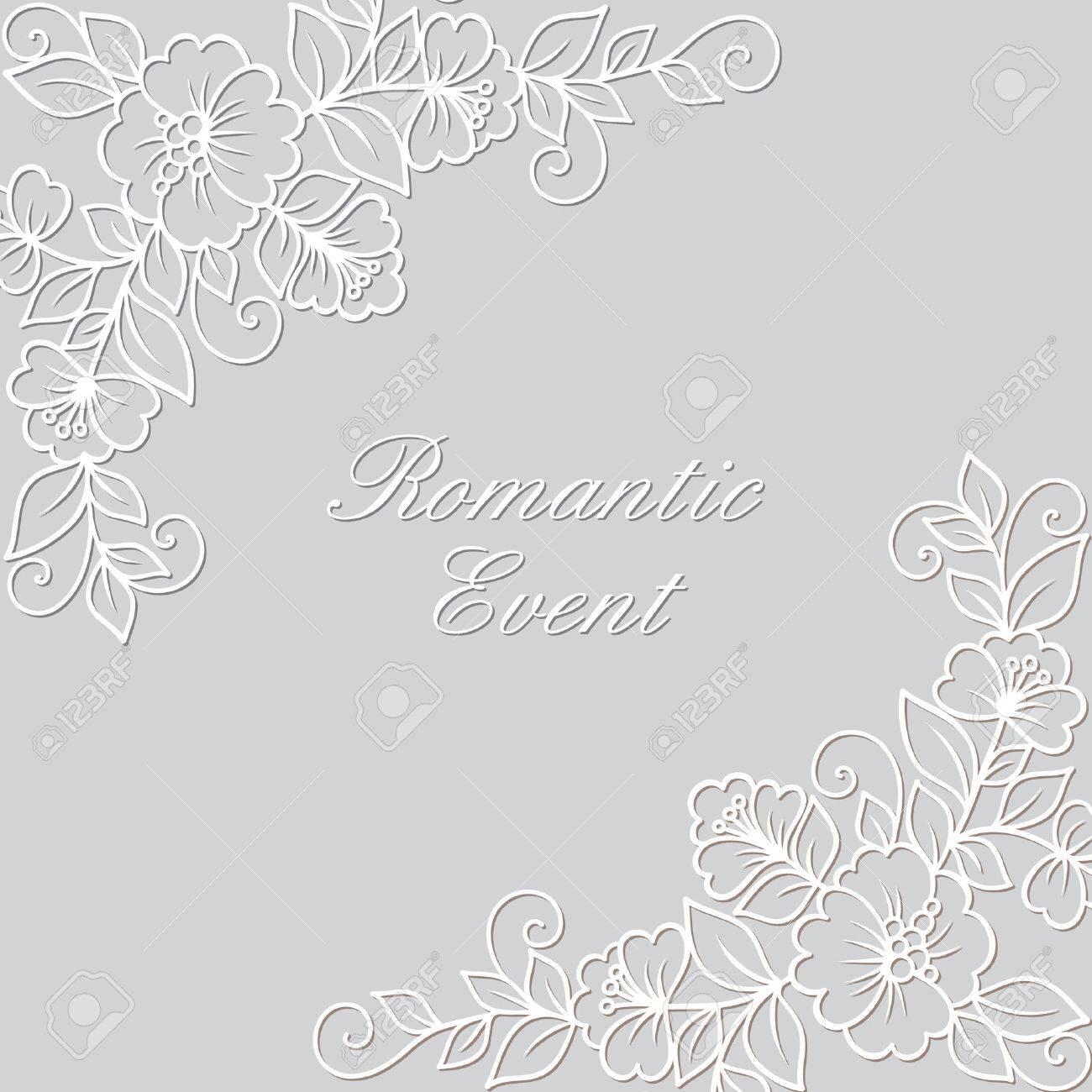 Flower Vector Ornament Frame White Flower Frame Lace Ornament