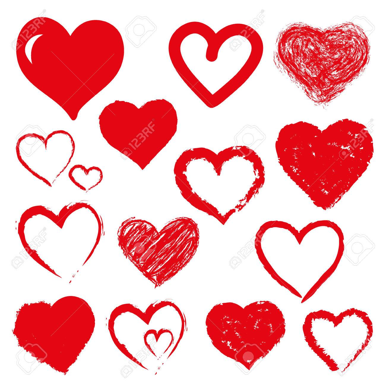 set of hearts. Red color - 52180290