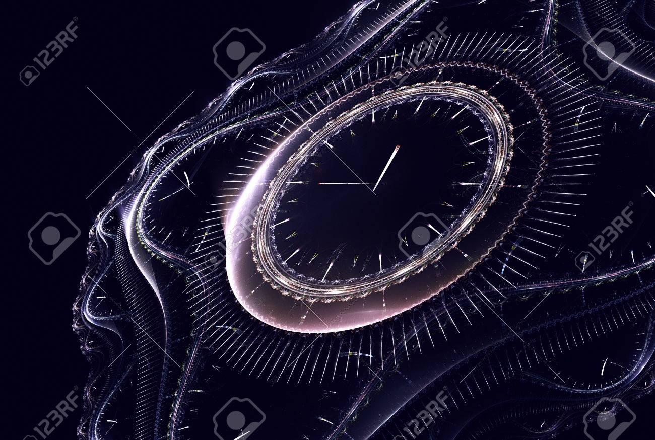 Reloj Nuevo La Tiempo Un Vida Restante Antes Del Cósmico Inicio Período Muestra De El ym76vYbfgI