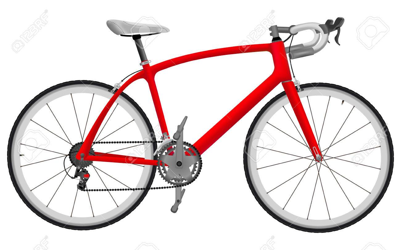 Road racing bike isolated on white background - 34541489