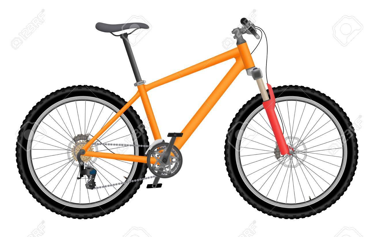 Vector orange bike isolated on white background - 37653537