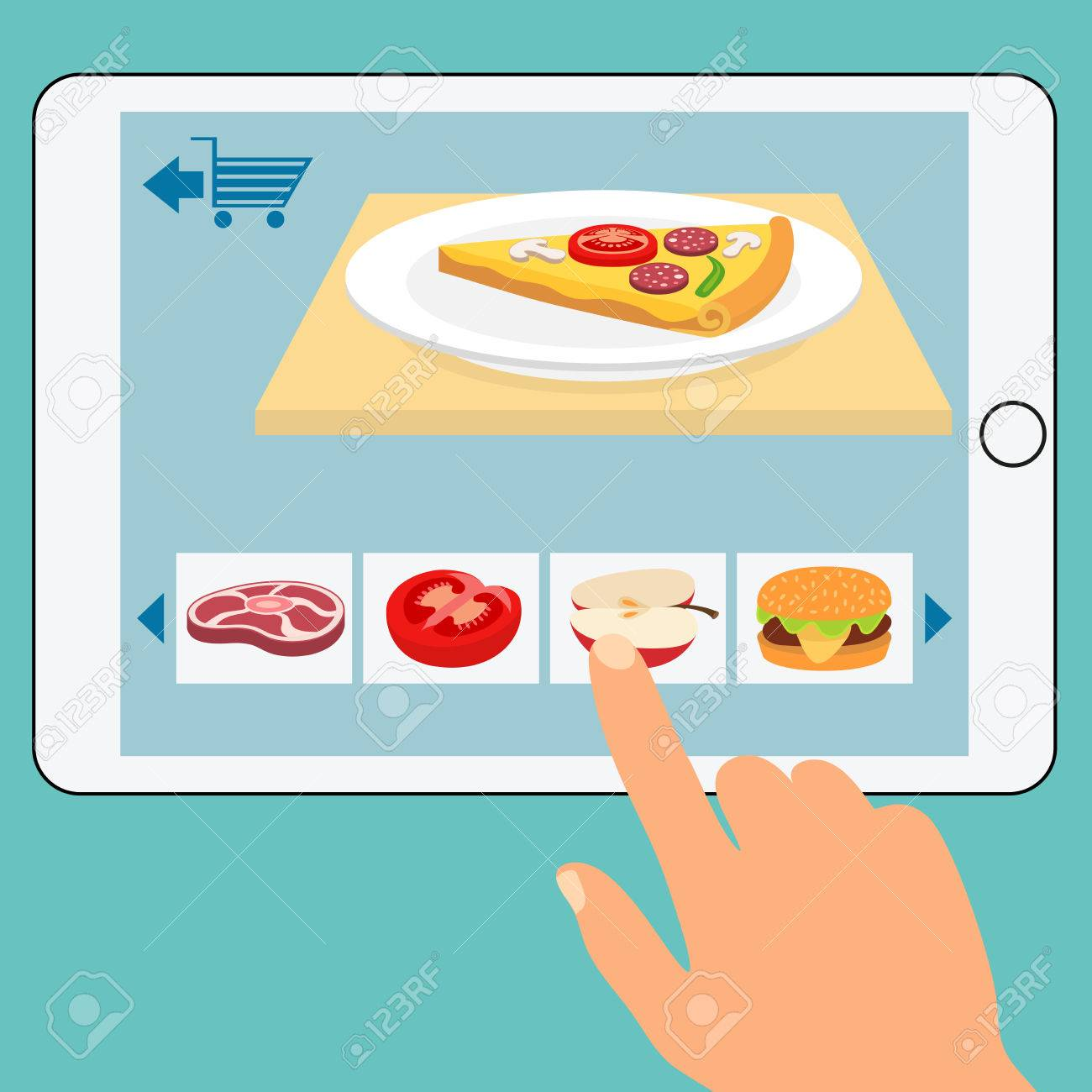 Concept Of The Grocery Online Storeorder Food Online Network