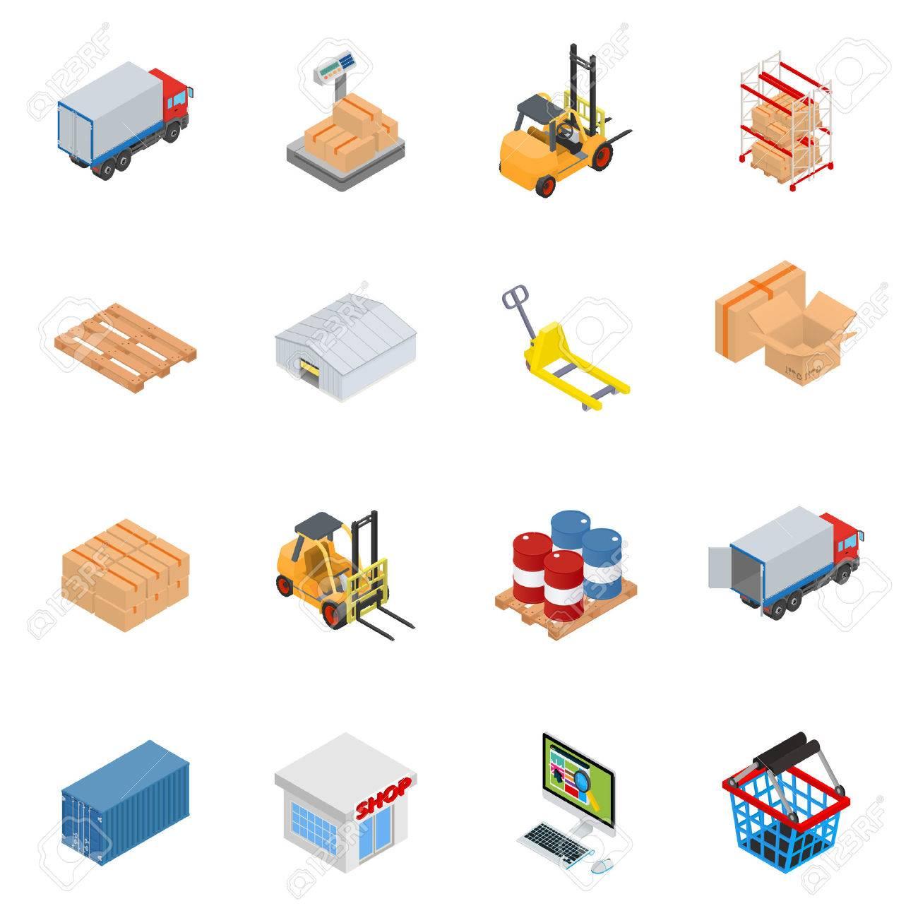 Vector warehouse equipment icon set - 51001692