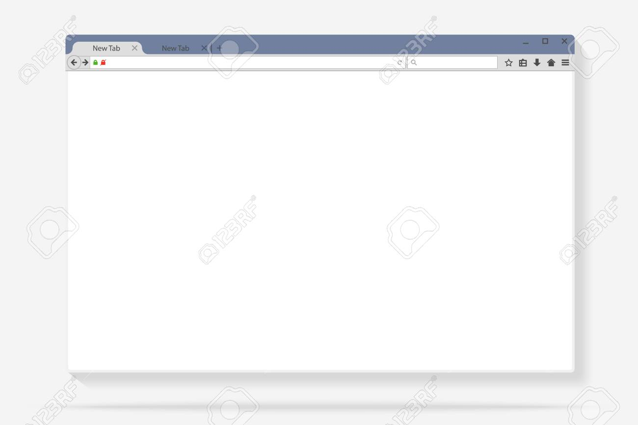 Flat internet browser windows with copy space for your text
