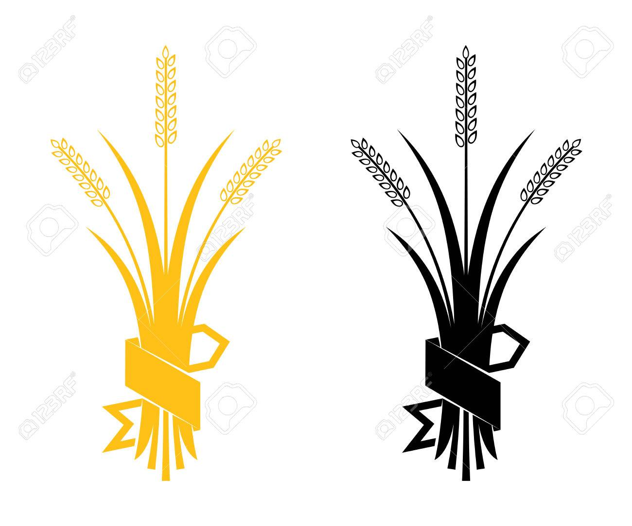 ears of wheat barley or rye vector visual graphic icons ideal rh 123rf com barley vector free download barney vector