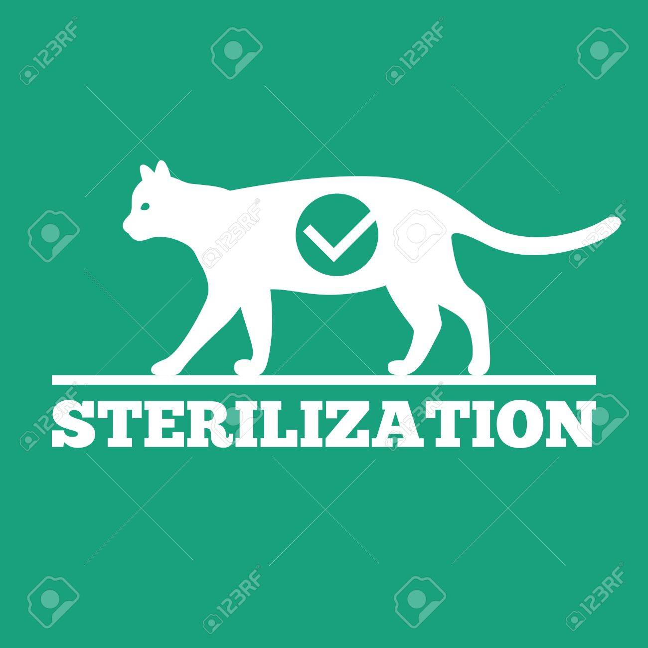 Vector logo of castration and sterilization of cats - 70938506